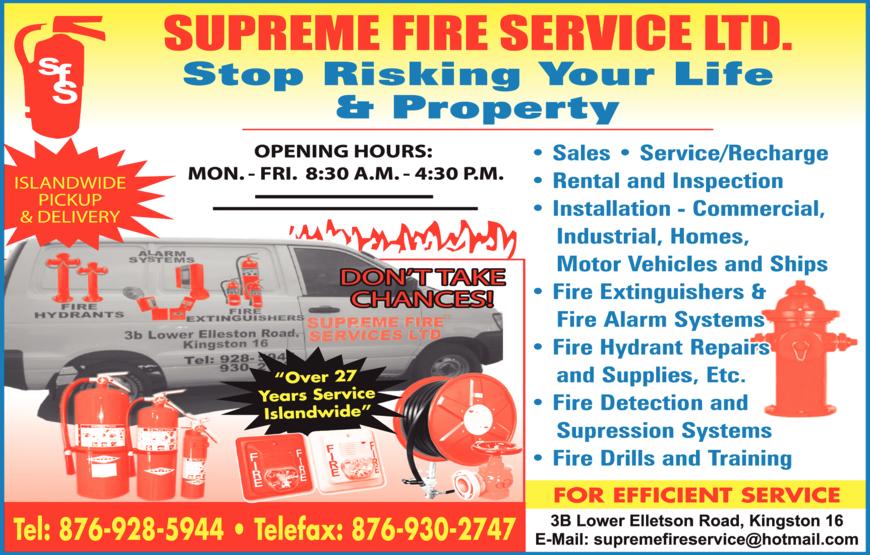 Supreme Fire Serv Ltd - Fire Protection Equipment & Supplies