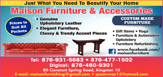 Maison Furniture & Accessories - Furniture-Retail