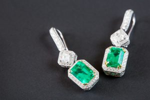 """emerald earrings"""