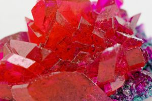 """crystals in ruby color"""