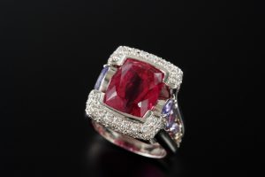 """ruby and diamond ring"""
