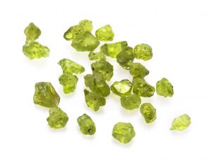 'green peridot gemstones'