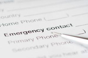 'emergency contact'