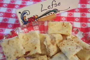 Lefse, traditional soft Norwegian flatbread
