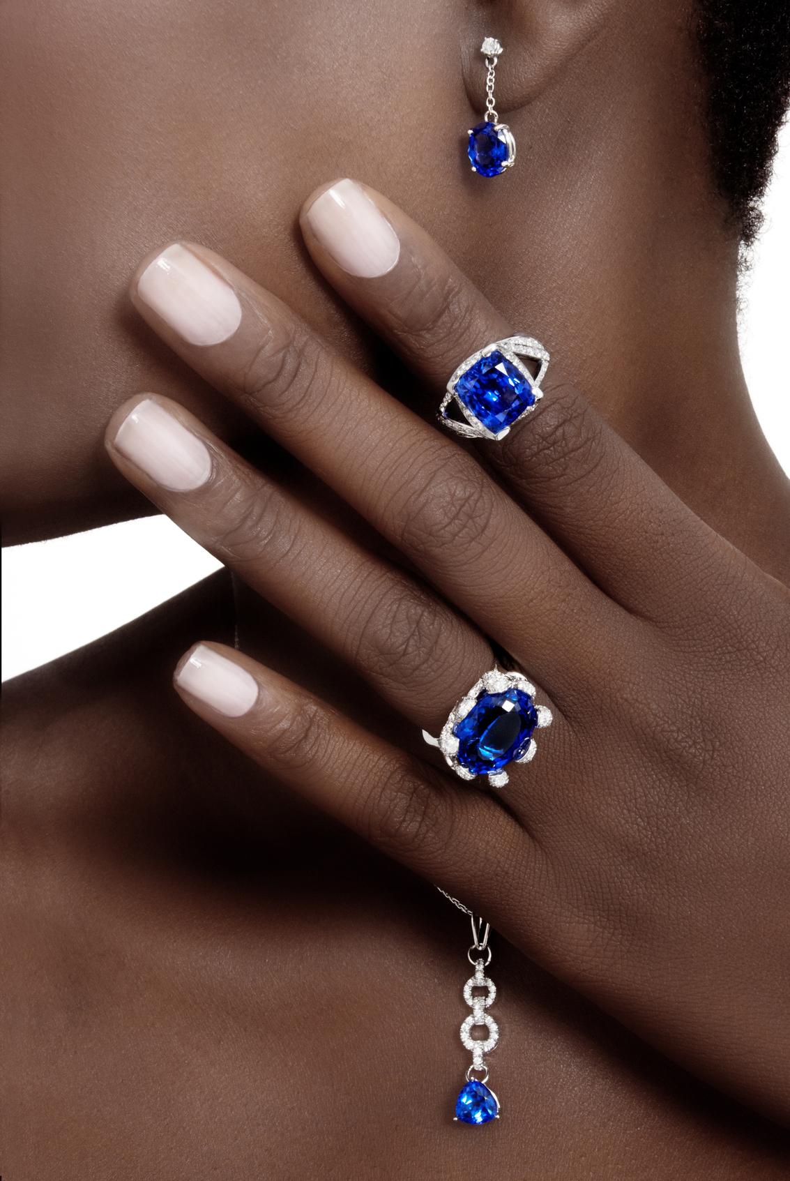 """tanzanite and diamonds"""