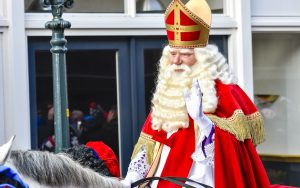 Sinterklaas arriving in The Netherlands for the Sint Nicolaas festival