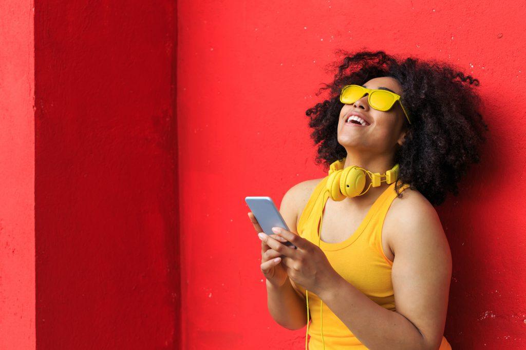 Happy Mobile Customer