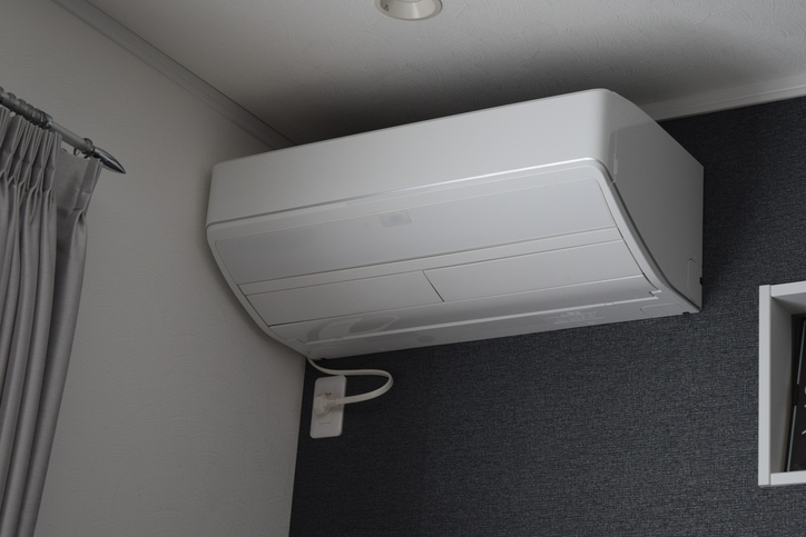 Air conditioning in residential area, near the ceiling
