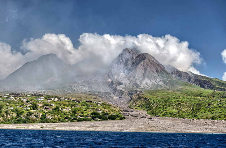 Montserrat - restricted area devastated by volcano