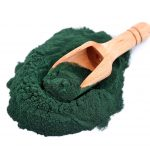Organic spirulina algae powder.