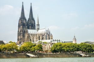 The famous cathedral in Cologne, Germany.