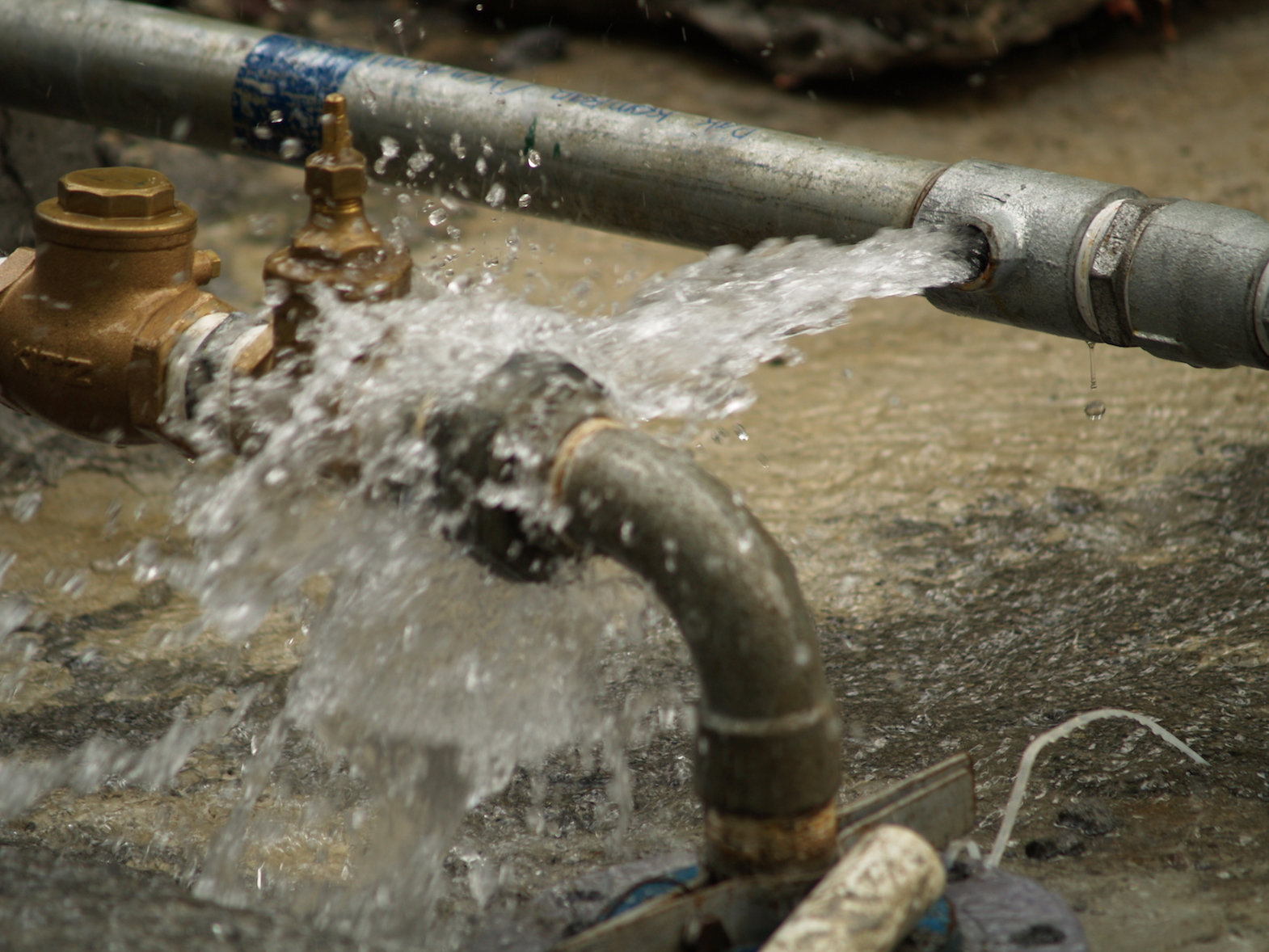 """leaking pipe"""