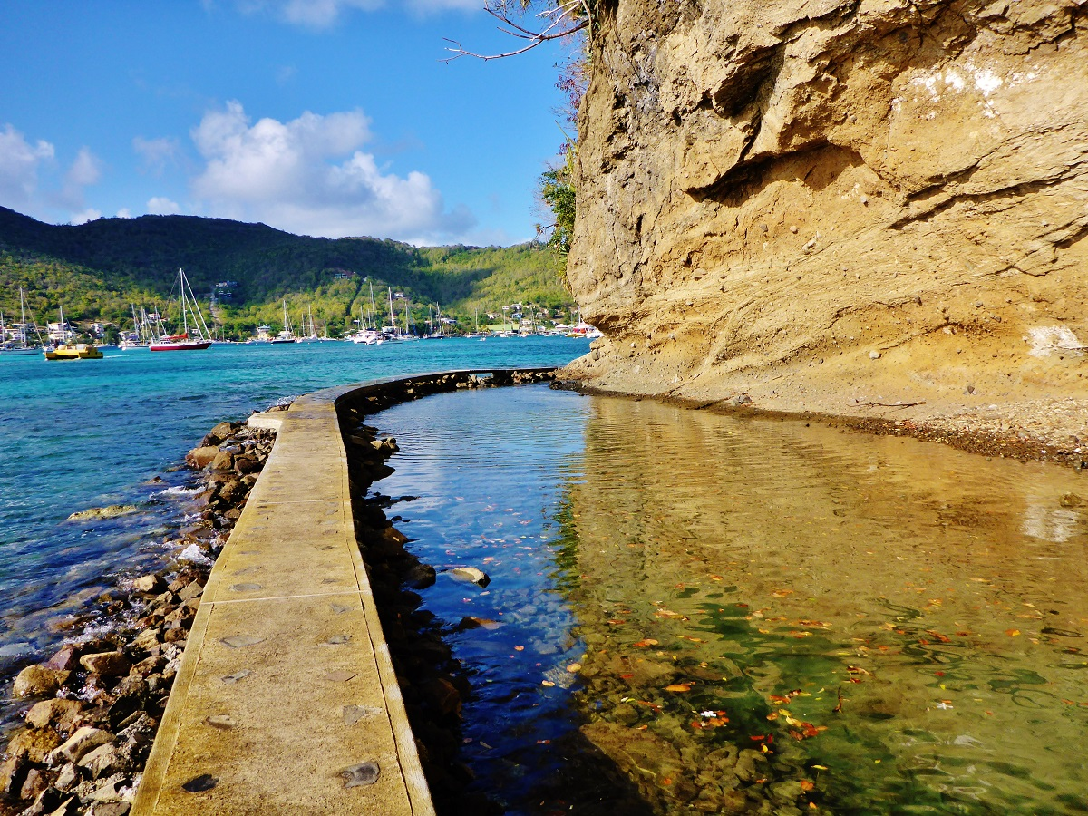 Belmont Walkway on Bequia, an island in the Grenadines.