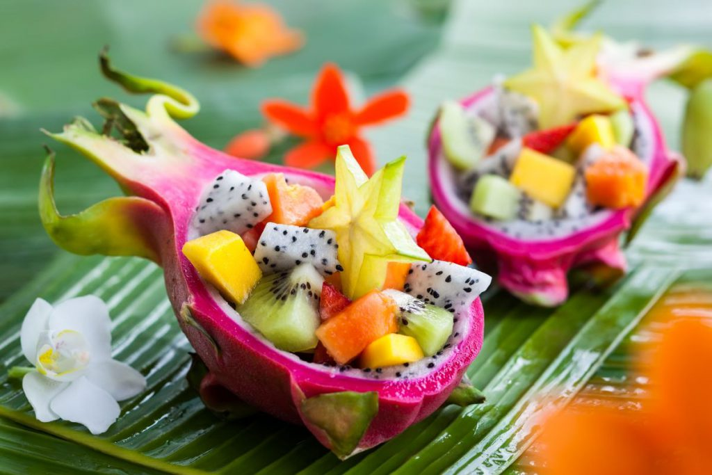 FindYello article on super powers of fruit image shows assortment of tropical fruits